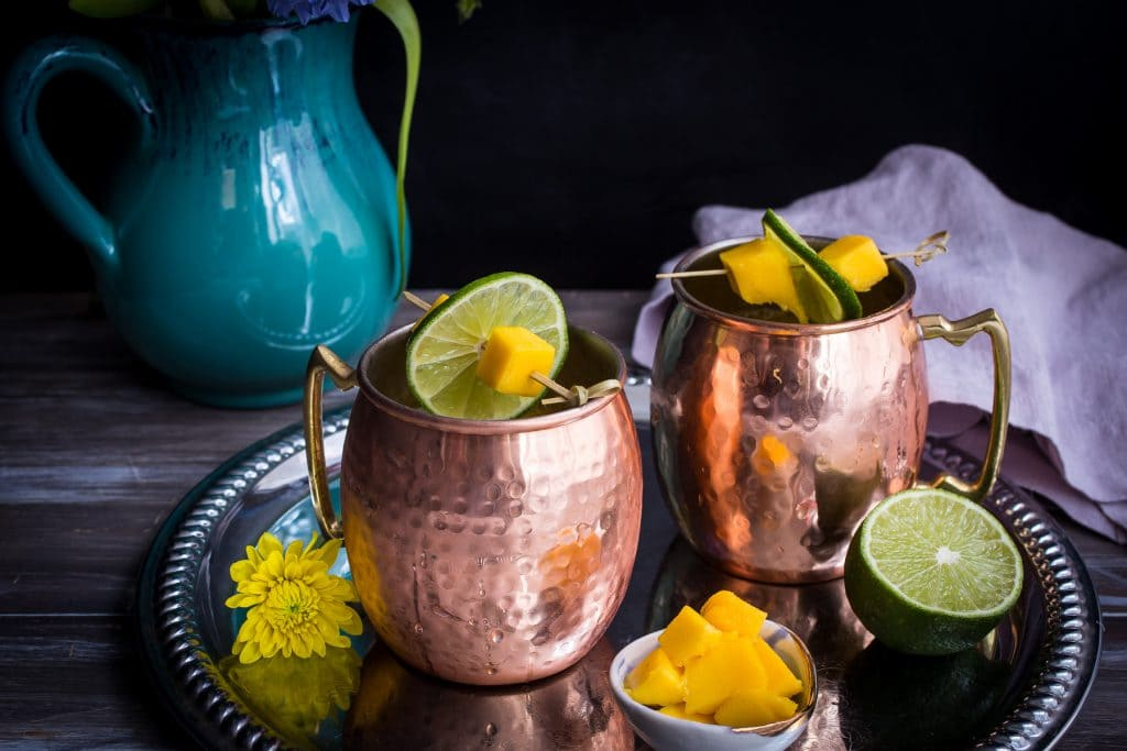 Mango Moscow Mule | girlinthelittleredkitchen.com
