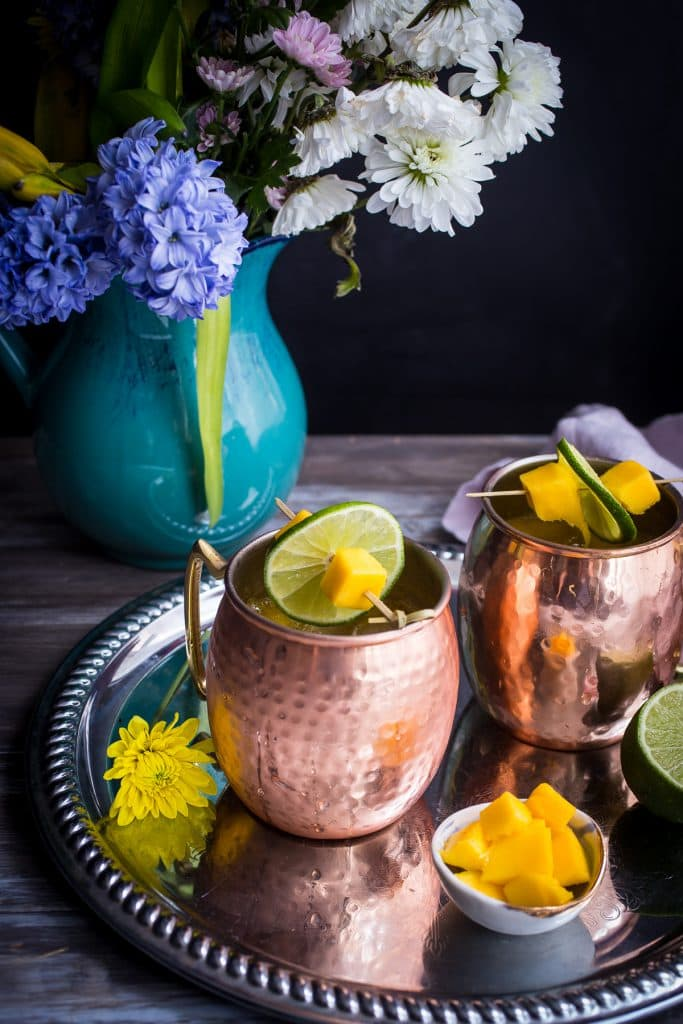 Mango Moscow Mule from The Girl In The Little Red Kitchen