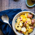 Potato Salad with Bacon, Corn and Peppers