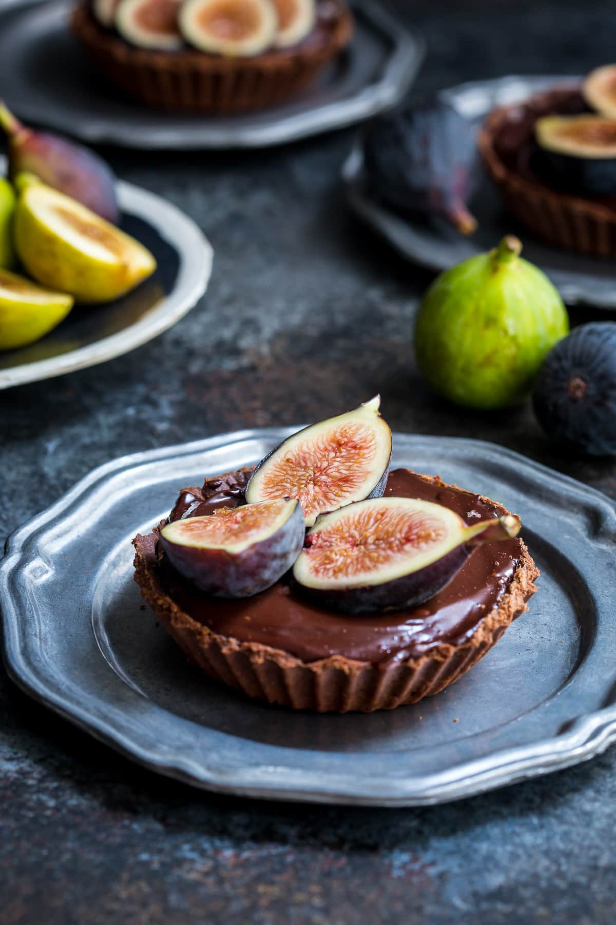 Chocolate Caramel Fig Tart Girl In The Little Red Kitchen