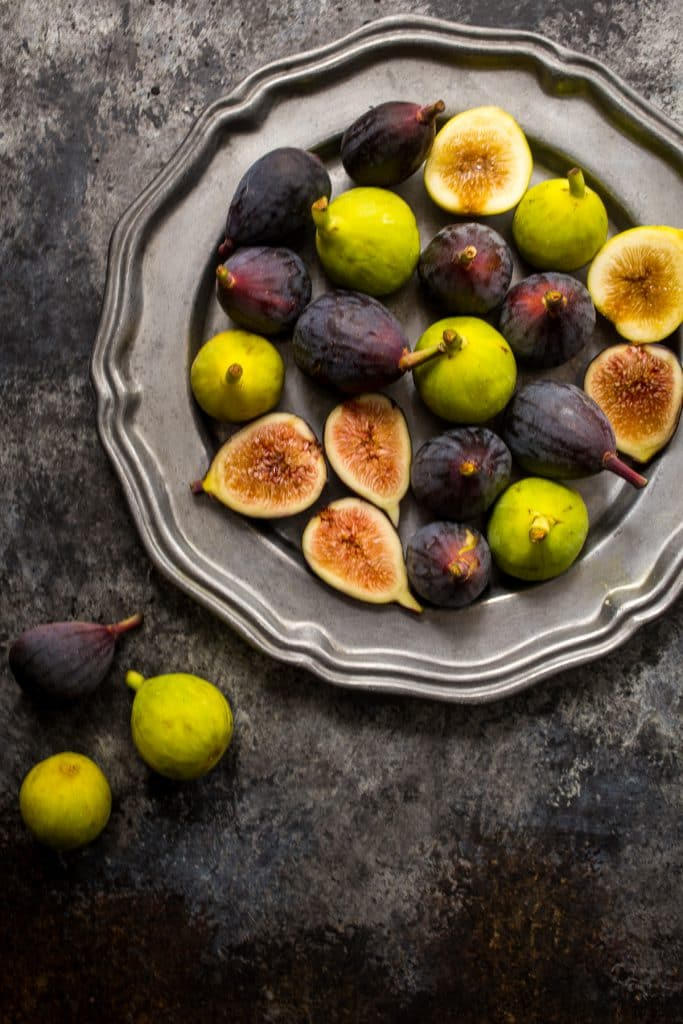 Fresh Figs for Chocolate Caramel Tart | girlinthelittleredkitchen.com