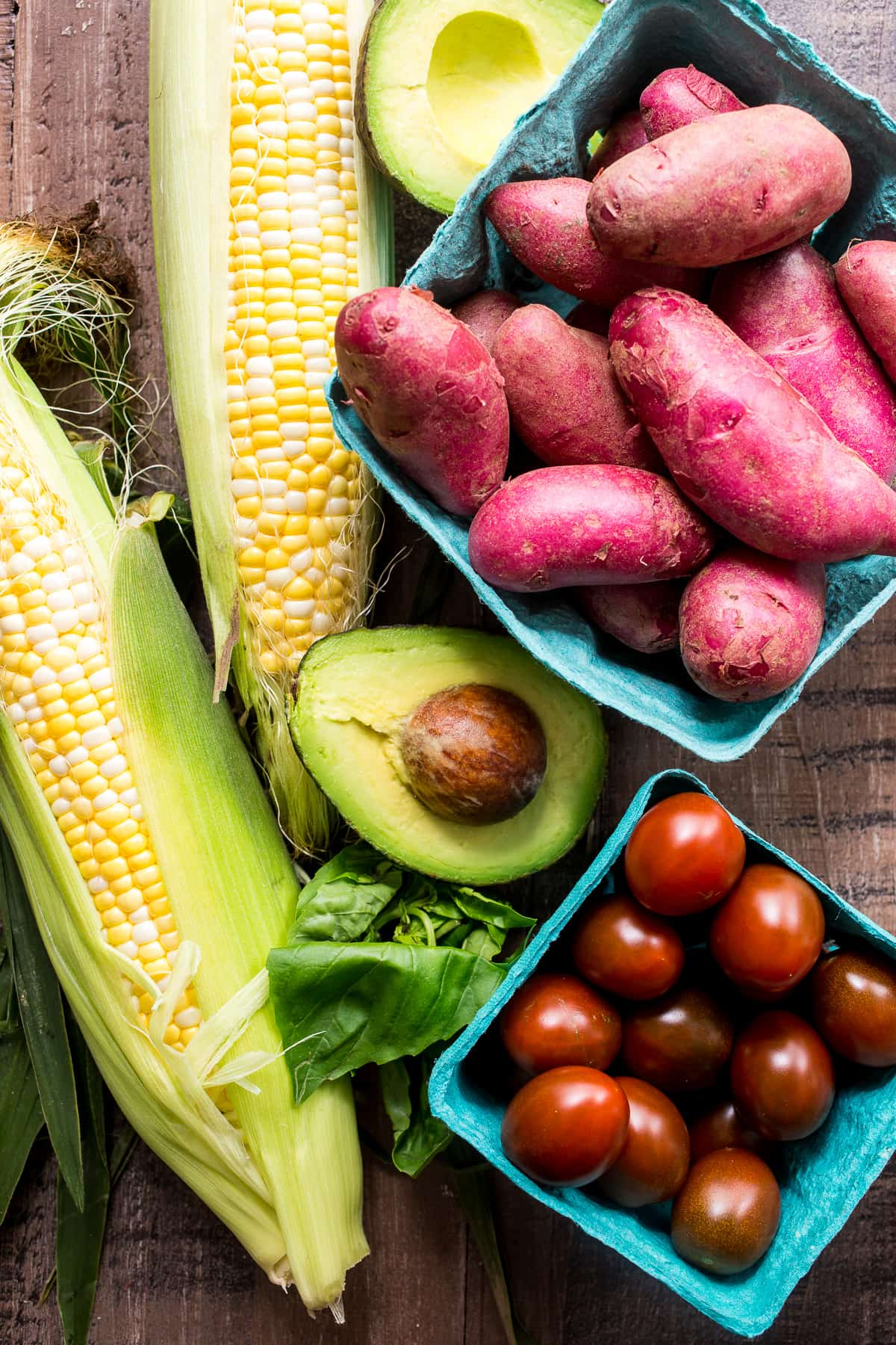 figure we've got tomatoes and avocado and corn (do you consider corn ...