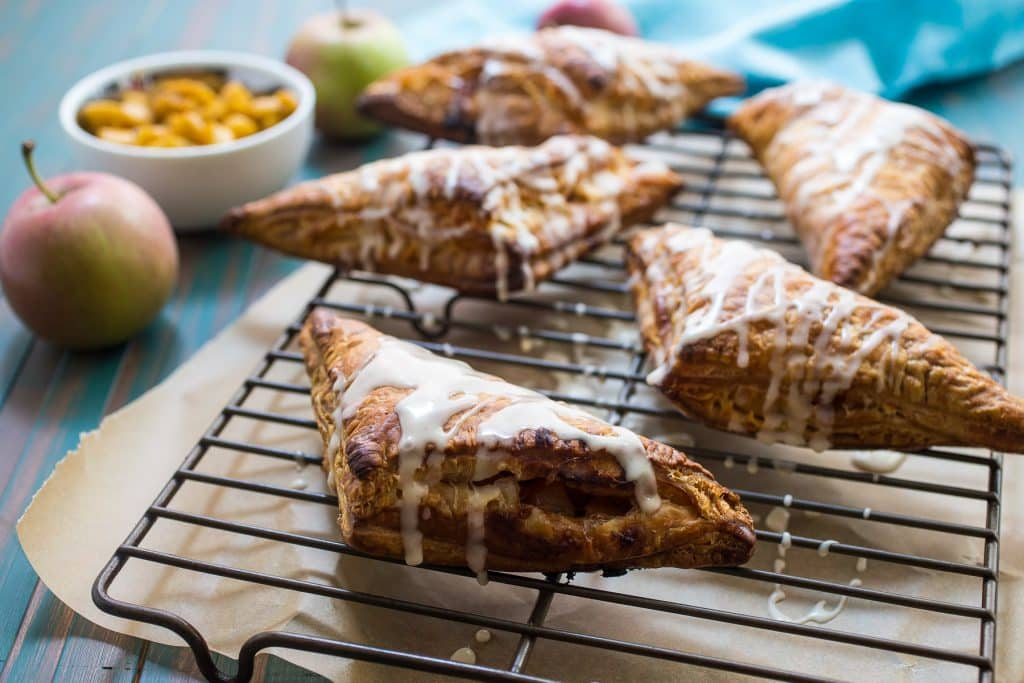 Rum Spiked Apple Turnovers | girlinthelittleredkitchen.com
