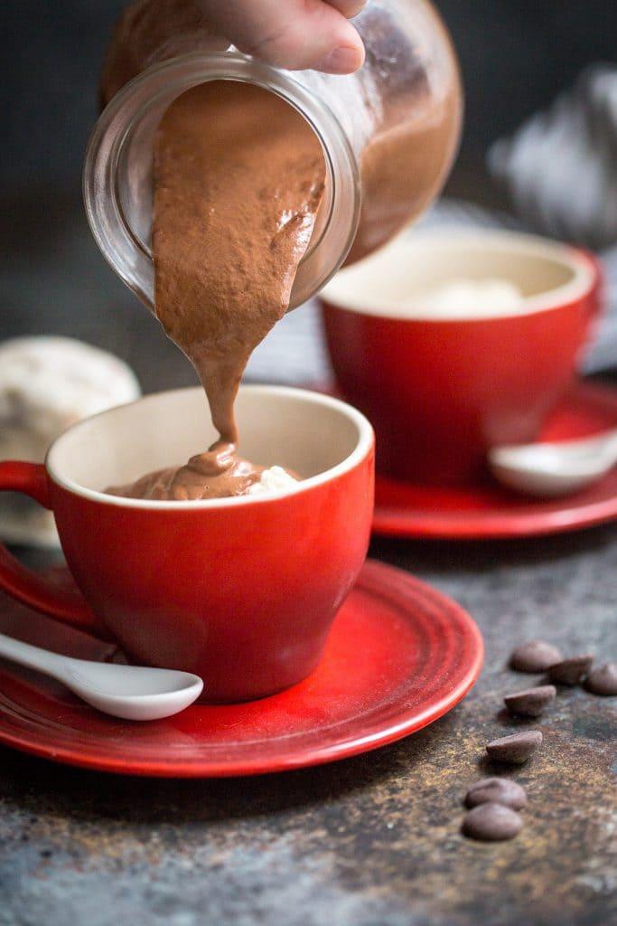 Hot Chocolate Affogato | girlinthelittleredkitchen.com
