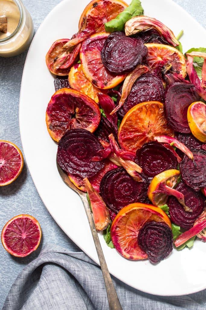 Roasted Beet, Fennel and Citrus Salad | girlinthelittleredkitchen.com