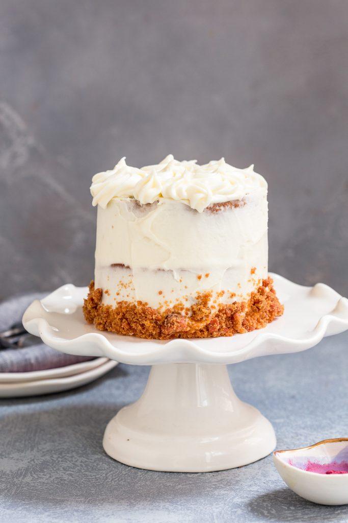 Beet Velvet Cake | girlinthelittleredkitchen.com