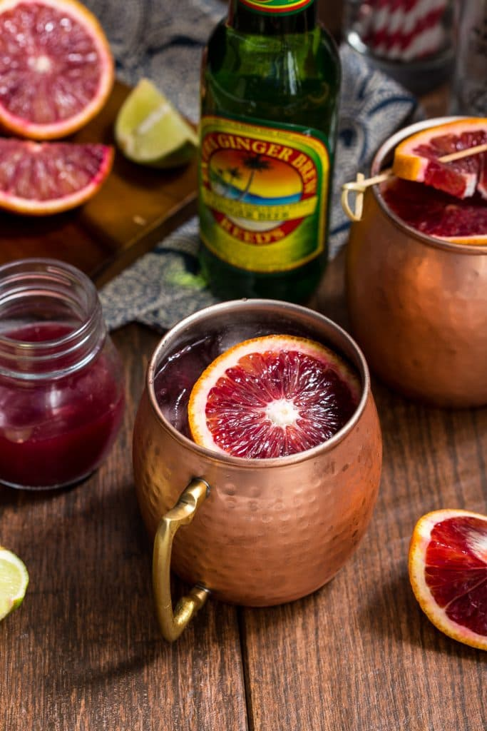Blood Orange Mule | girlinthelittleredkitchen.com
