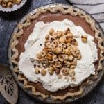 Boozy Chocolate Hazlenut Cream Pie-3