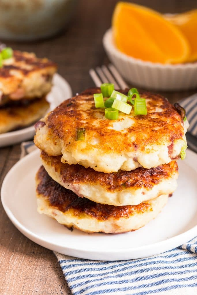 Corned Beef Hash Patties | girlinthelittleredkitchen.com