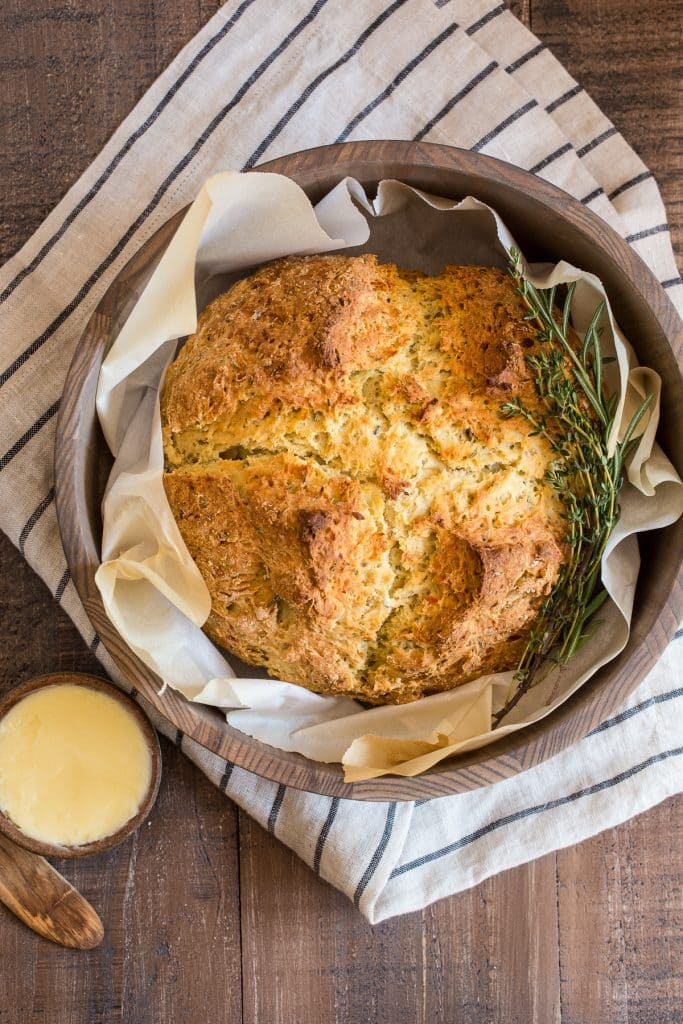 Potato Soda Bread | girlinthelittleredkitchen.com