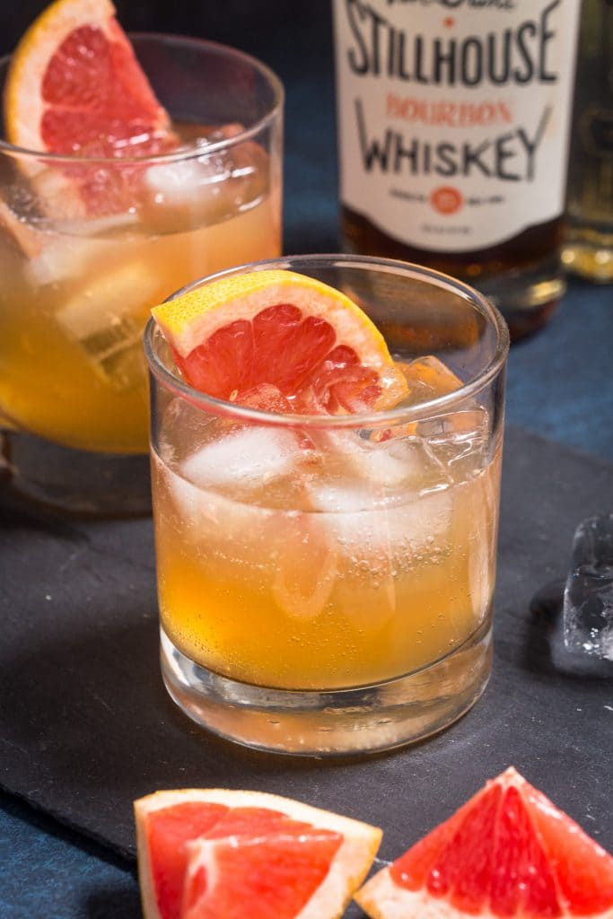 Grapefruit Whiskey Sour | girlinthelittleredkitchen.com