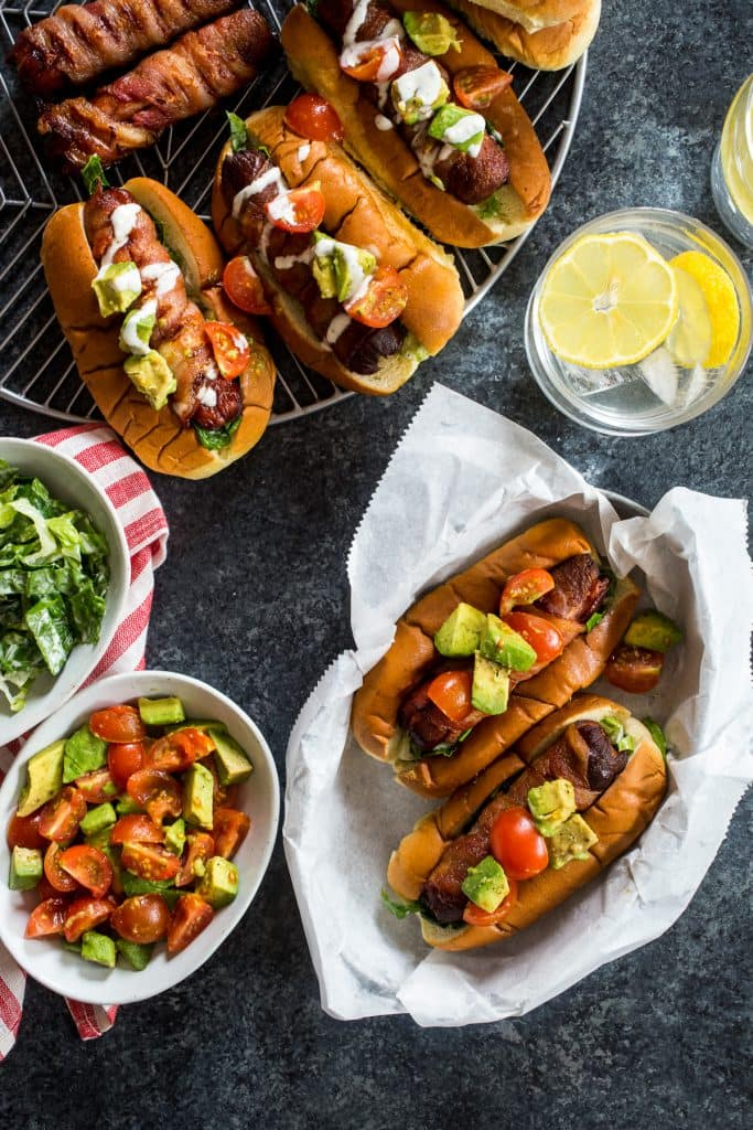 BLAT Hot Dogs | girlinthelittleredkitchen.com