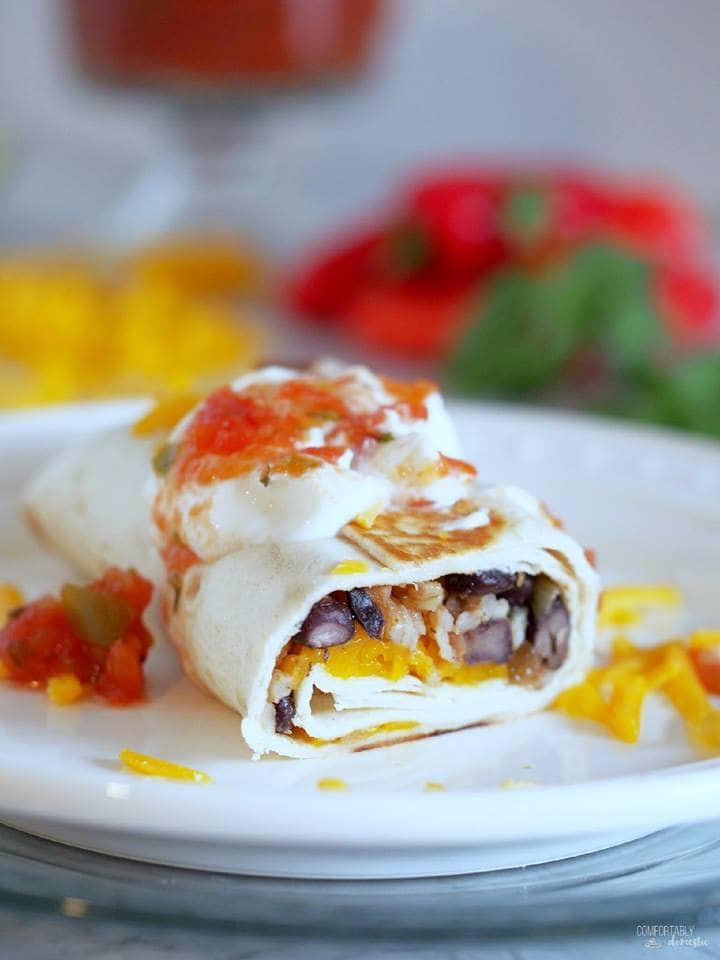 CRISPY BLACK BEAN BURRITOS | Comfortably Domestic