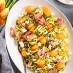 Prosciutto and Melon Zucchini Noodle Salad-2