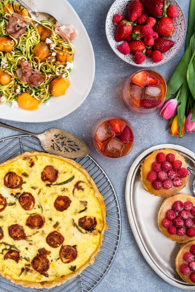 Spring Garden Party Menu | girlinthelittleredkitchen.com