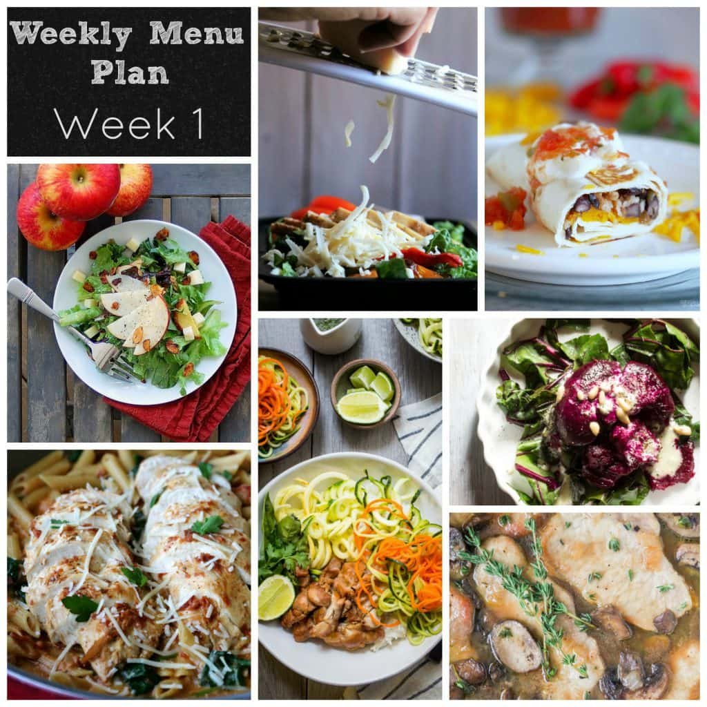 Weekly Meal Plan Week 1 | girlinthelittleredkitchen.com