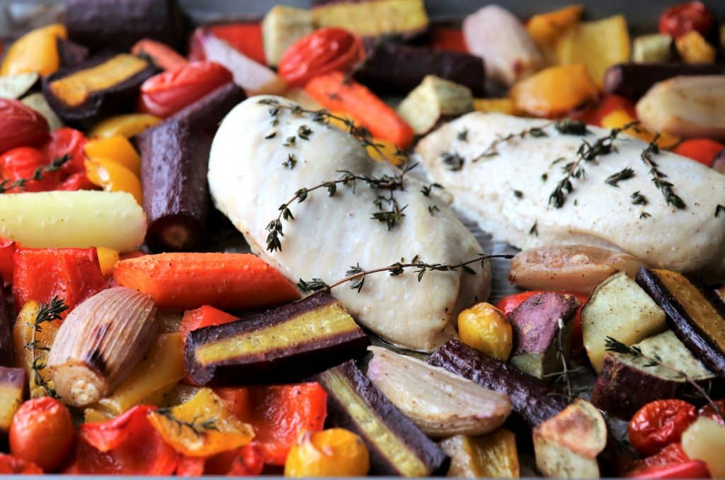Roasted Chicken and Vegetable Sheet Pan Supper | Pook's Pantry