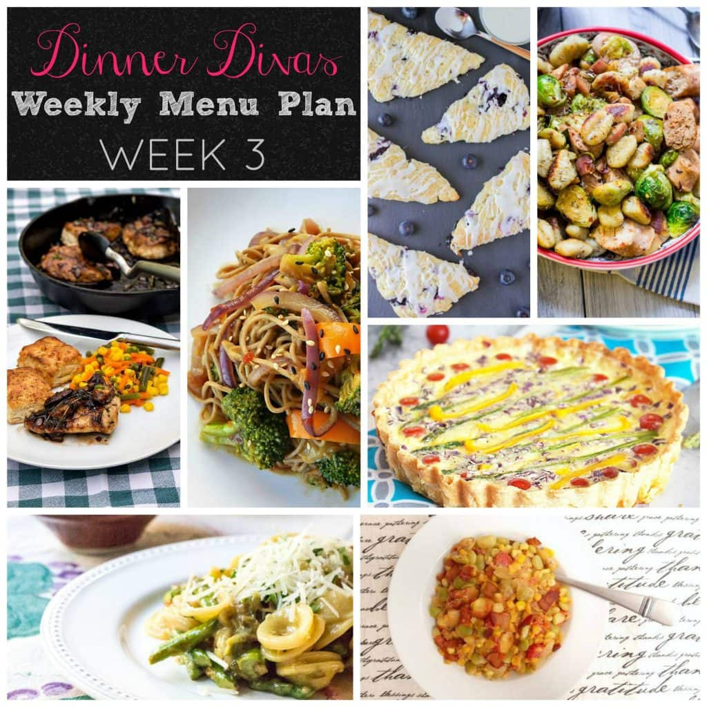 Weekly Menu Plan - Week 3