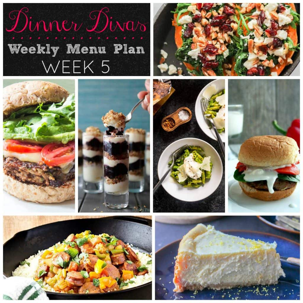 Dinner Divas Weekly Meal Plan Week 5 | girlinthelittleredkitchen.com