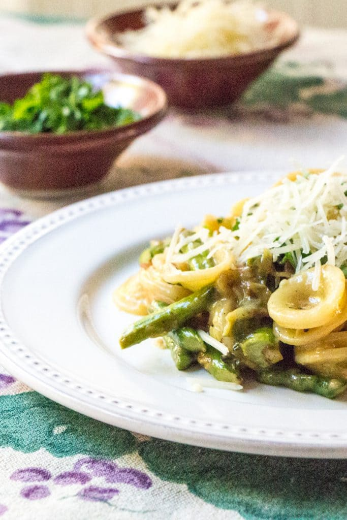 Asparagus Carbonara | The Wimpy Vegetarian