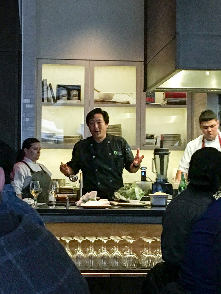 B&W Watercress Dinner with Chef Ming Tsai | girlinthelittleredkitchen.com