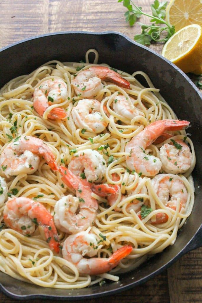 SHRIMP SCAMPI WITH LINGUINE | CHEF NEXT DOOR