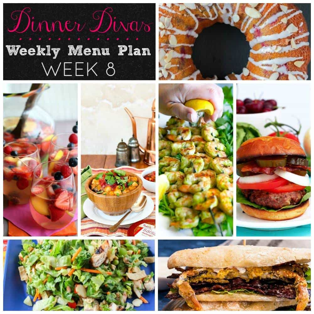 Weekly Menu Plan Week 8 | girlinthelittleredkitchen.com