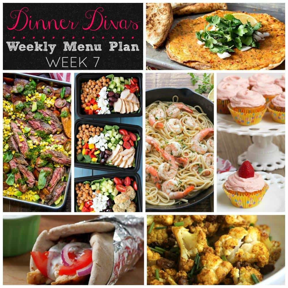 Dinner Divas Weekly Meal Plan | girlinthelittleredkitchen.com