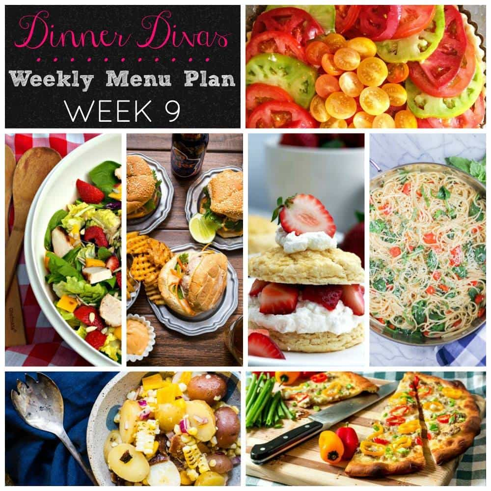 Weekly Meal Plan - Week 9 | girlinthelittleredkitchen.com