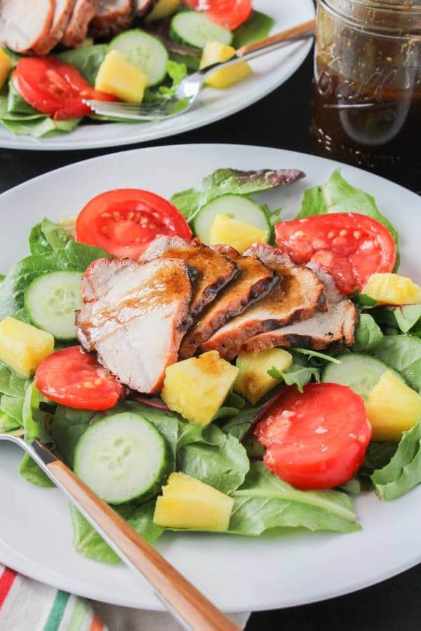 Grilled Pork and Pineapple Salad with Simple Vinaigrette | Chef Next Door