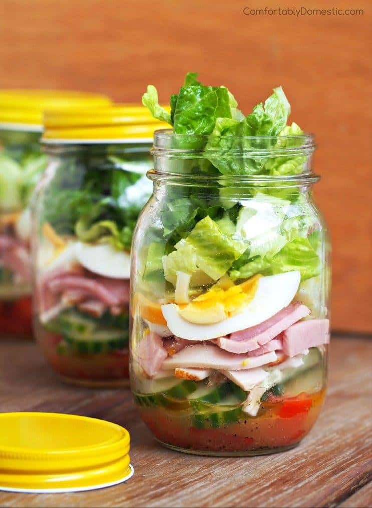 Chef Salad in a Jar | Comfortably Domestic