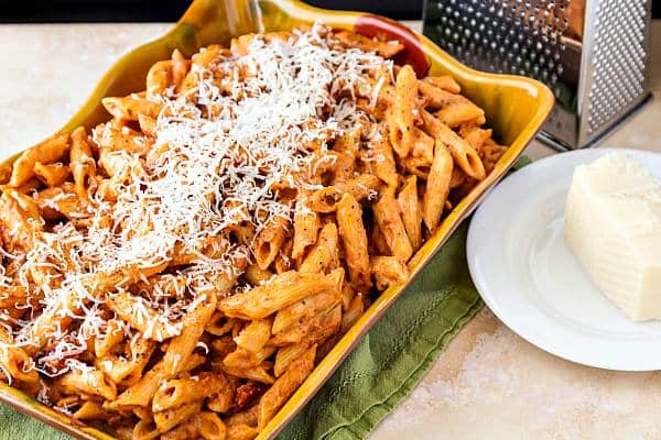 Pasta with Easy Creamy Marinara (or Vodka) Sauce | Pastry Chef Online
