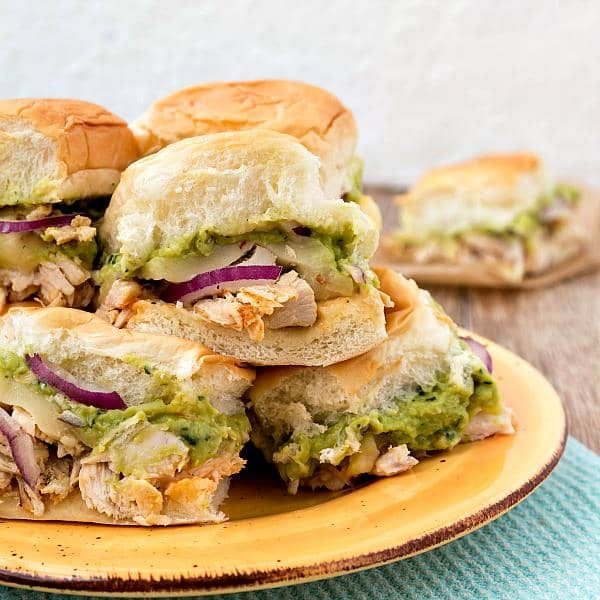 Spicy Chicken Guacamole Sliders | Pastry Chef Online