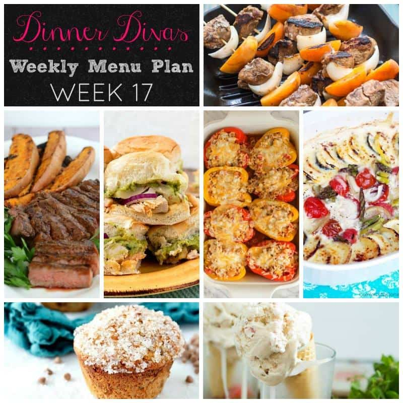 Weekly Meal Plan - Week 17 | girlinthelittleredkitchen.com