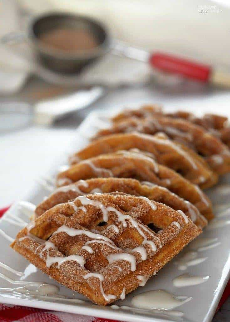 Pumpkin Churro Waffles | Comfortably Domestic