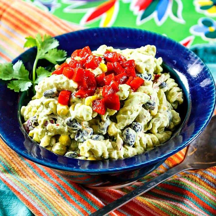 Mexican Green Goddess Pasta Salad (easily veganized) | Pastry Chef Online