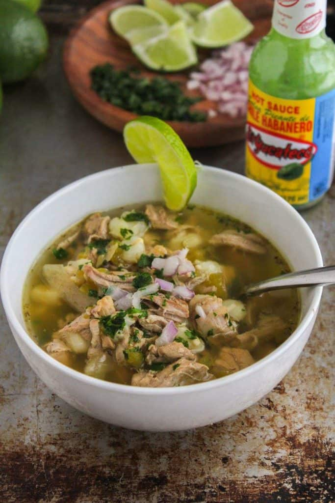 Slow Cooker Spicy Posole Verde | Chef Next Door