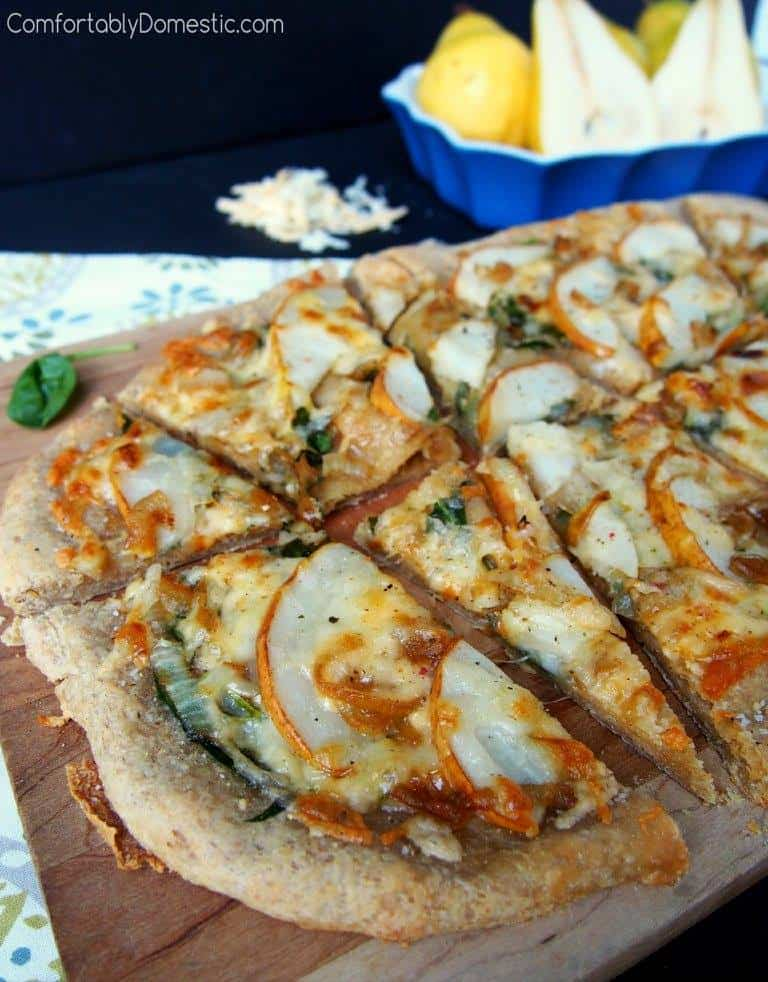 Pear and Caramelized Onion Flatbread | Comfortably Domestic