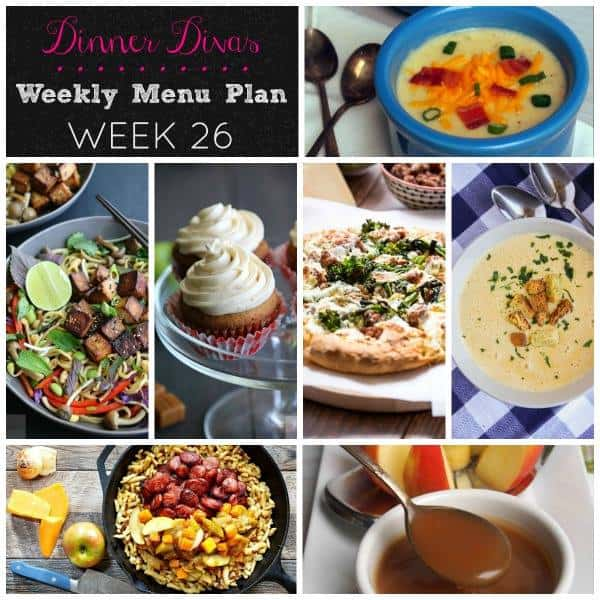 Weekly Meal Plan - Week 26 | girlinthelittleredkitchen.com