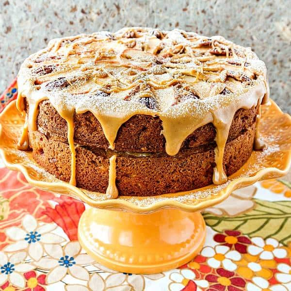 Fresh and Dried Apple Pecan Cake | Pastry Chef Online