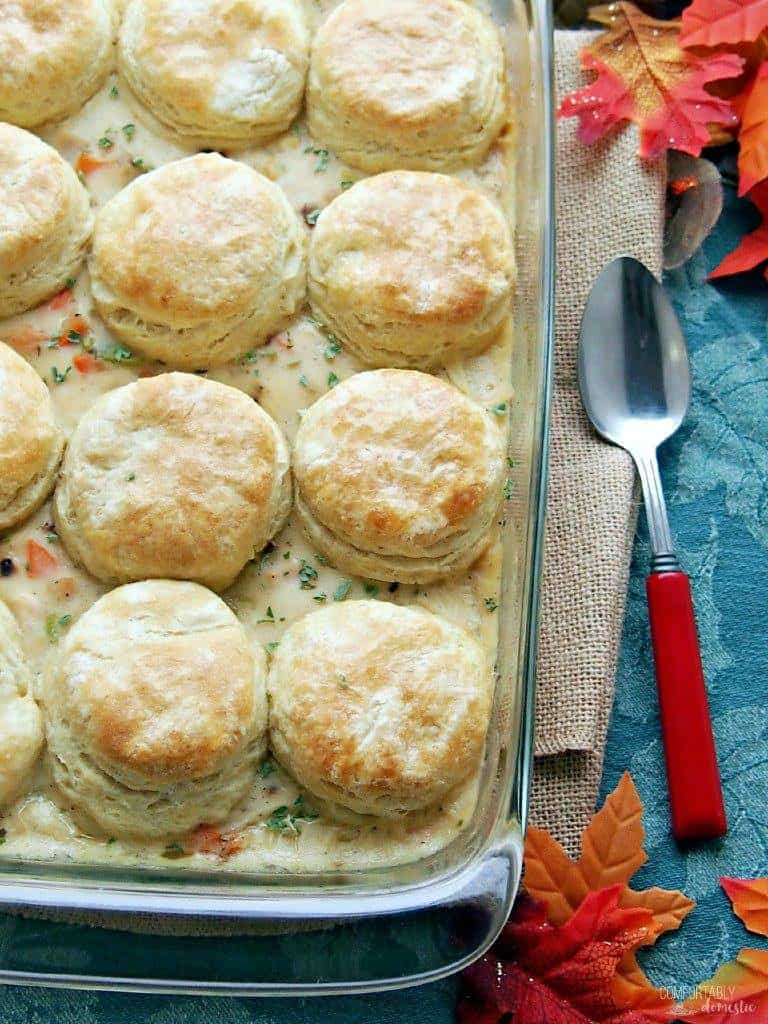 Turkey and Biscuit Casserole | Comfortably Domestic