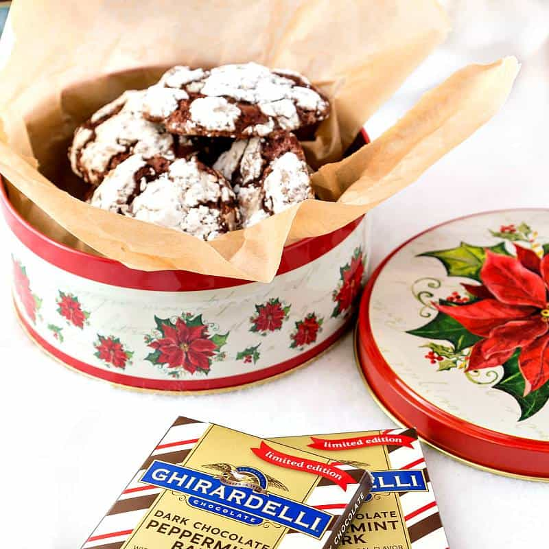 Gluten-Free Chocolate Peppermint Crinkle Cookies | Pastry Chef Online