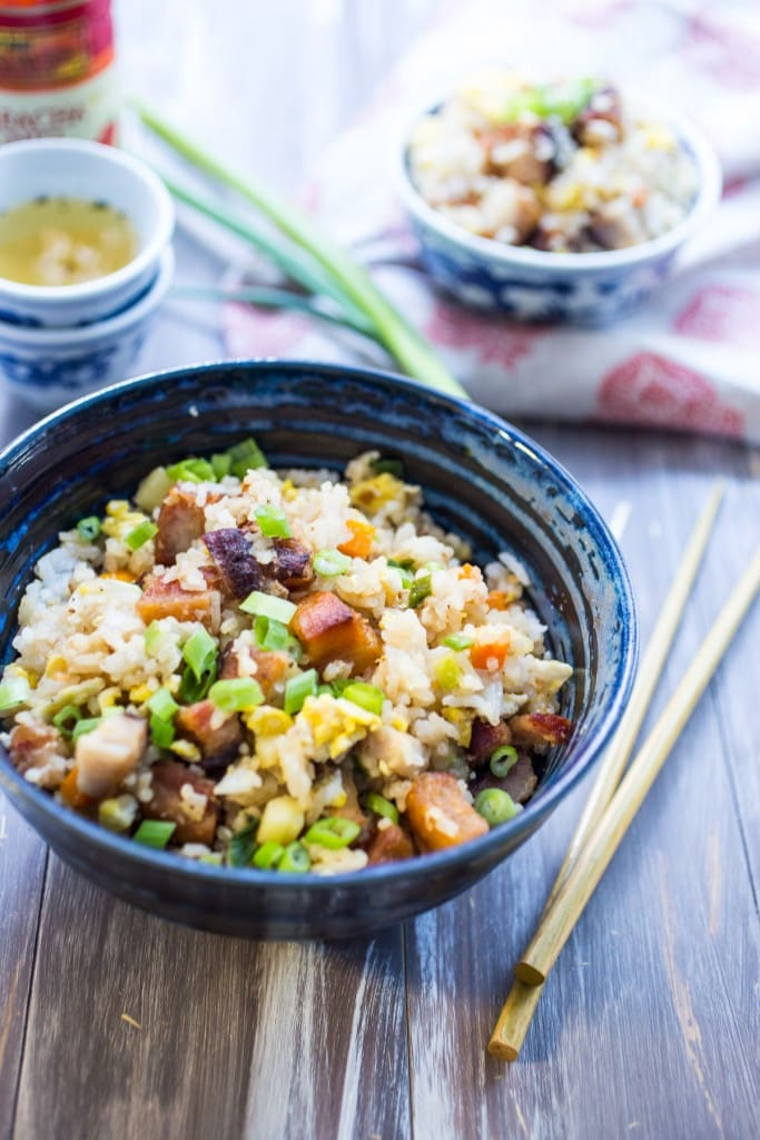 Pork Belly Fried Rice from The Girl In The Little Red Kitchen
