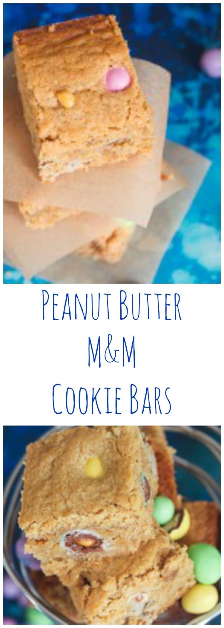 Peanut Butter Bars with Peanut M&M's