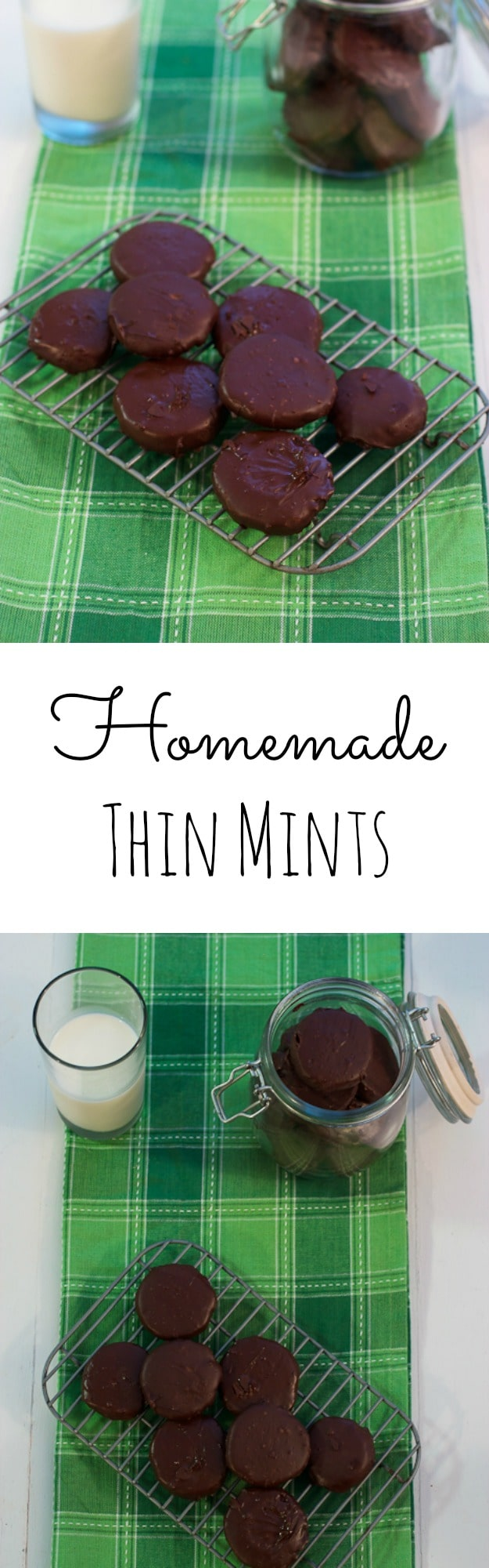 Homemade Thin Mint Cookies | girlinthelittleredkitchen.com