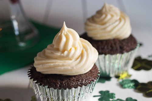 Irish Carbomb Cupcakes  | The Girl In The Little Red Kitchen