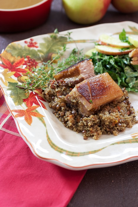 Cider Braised Pork Belly | The Girl In The Little Red Kitchen