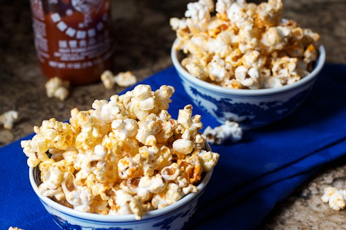 Sriracha Popcorn | The Girl In The Little Red Kitchen