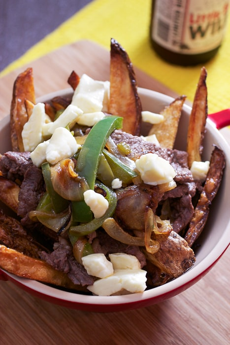 Cheesesteak Poutine | The Girl In The Little Red Kitchen