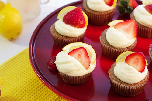 Strawberry Lemonade Cupcakes | The Girl In The Little Red Kitchen